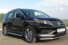 Honda CR-V 2013- Защита переднего бампера d63 (секции) HVZ-001336
